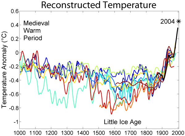 Temperatures over the Past 1000 Years