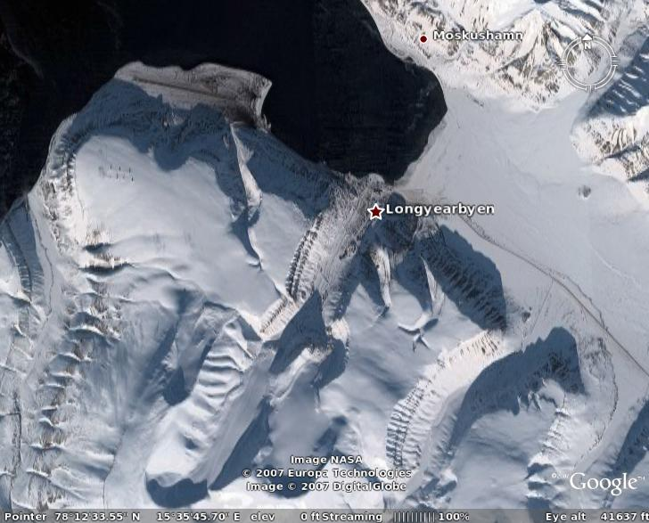 Svaldbard Longyerbyen - from Google Earth