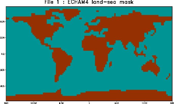 Land-sea mask for ECHAM4