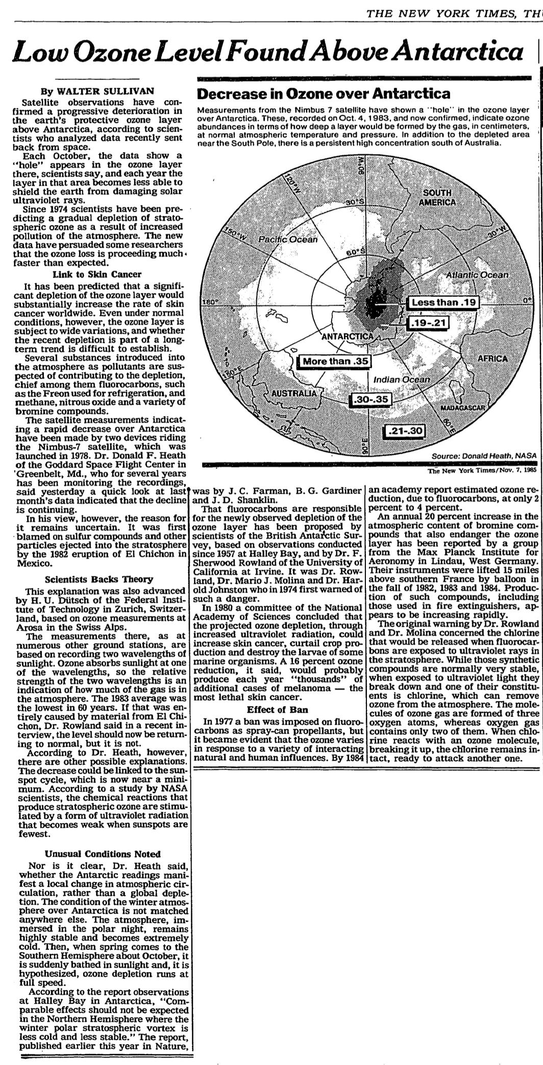 The Nov 1985 NYT story